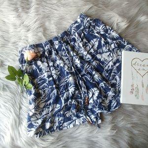 L.O.G.G. H&M Blue Hawaiian Shorts Size 10